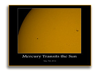 Mercury crossing the face of the sun.