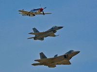 Heritage Flight F-22, P-51 & F-16